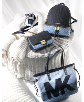 Sloan Signature Denim Chain Small Shoulder Bag, Created for Macy's