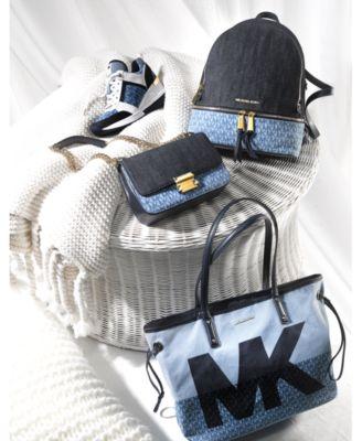 Sloan Signature Denim Chain Shoulder Bag, Created for Macy's