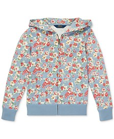 Polo Ralph Lauren Big Girls Floral-Print Cotton French Terry Hoodie