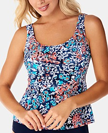 Printed Mastectomy Tankini Top, Created for Macy's