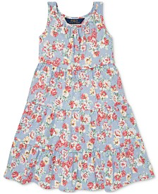 Polo Ralph Lauren Little Girls Floral Cotton Jersey Dress
