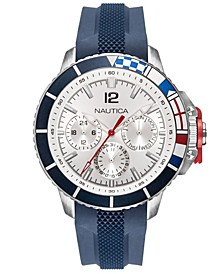 Men's NAPBHP903 Bay Ho Multifunction Navy/Silver/Black Silicone Strap Watch