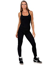 InstantFigure Compression Cycling Pant with Contoured Fit and Padded Seat