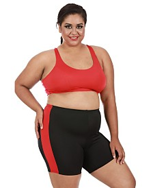 InstantFigure Women's Compression Racer Back Crop Top