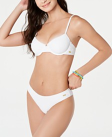 Roxy Juniors' Sun Memory Textured  Bikini Top With Underwire & Bikini Bottoms