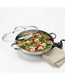 Gourmet Series Stainless Steel Electric Skillet