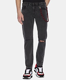 A|X Armani Exchange Men's Slim-Fit Ripped Jeans