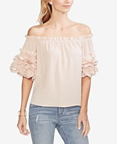 07d76418f77f65 Vince Camuto Ruffled Off-The-Shoulder Top