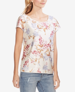 Vince Camuto Tops FLORAL-SEQUINED TOP