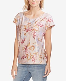 Vince Camuto Floral-Sequined Top