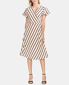 Vince Camuto Striped Wrap Dress, Created for Macy's