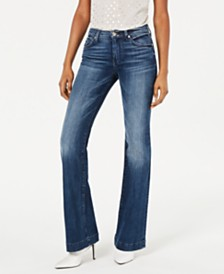7 For All Mankind Dojo Lake Blue Flare Jeans