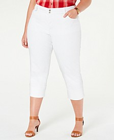 Plus Size High-Cuff Capri Jeans, Created for Macy's