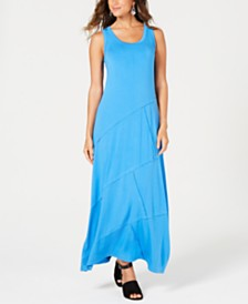 Style & Co Petite Exposed-Seam Maxi Dress, Created for Macy's