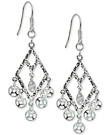 Giani Bernini Shaky Disc Kite Drop Earrings in Sterling Silver, Created for Macy's