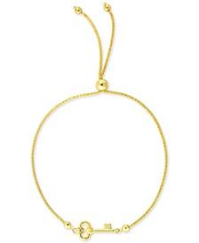 Key Bolo Bracelet in 10k Gold
