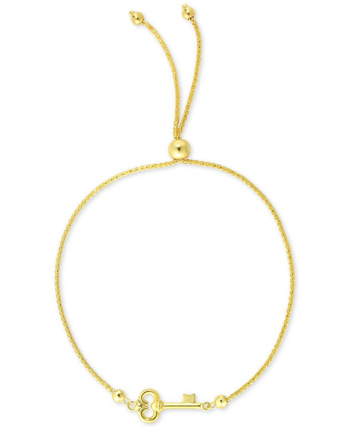 Macy's - Key Bolo Bracelet in 10k Gold