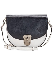 Patricia Nash Bettina Colorblock Saddle Crossbody