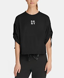 DKNY Sport Relaxed Adjustable-Sleeve Top, Created for Macy's