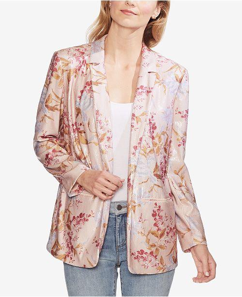 e3c77d180ca6 Vince Camuto Sequined Floral-Print Blazer & Reviews - Jackets ...