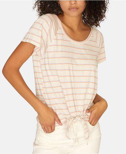 Sanctuary Lou Striped Tie-Hem T-Shirt