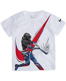 Nike Toddler Boys Baseball Player Graphic Cotton T-Shirt
