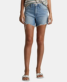 Silver Jeans Co. Distressed Frisco Denim Shorts