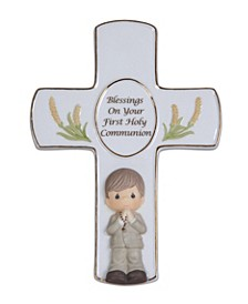 Blessings On Your First Holy Communion Cross With Stand, Boy