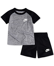 Nike Baby Boys 2-Pc. Raglan T-Shirt & French Terry Shorts Set