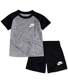 da854f967f9226 Nike Baby Boys 2-Pc. Raglan T-Shirt   French Terry Shorts Set