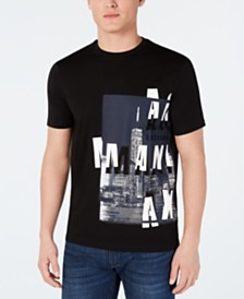 A|X Armani Exchange Men's Skyline Graphic T-Shirt