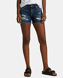 Silver Jeans Co. Suki Distressed Denim Shorts