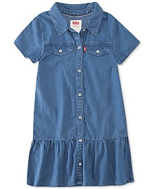 Levi's® Little Girls Ava Peplum-Hem Shift Dress