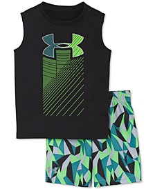 Little Boys 2-Pc. Geo Cache Rising Logo Tank Top & Shorts Set