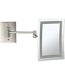 Glimmer Wall-Mounted Square LED 3x Makeup Mirror