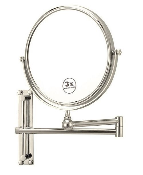 Nameeks Glimmer Round Wall-Mounted Double Face 3x Makeup Mirror