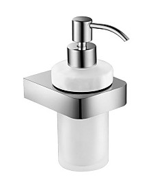 Nameeks General Hotel Wall-Mounted Frosted Glass Soap Dispenser With Chrome Mounting