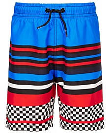 Little Boys Striped Swim Trunks, Created for Macy's