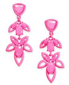 I.N.C. Stone Openwork Drop Earrings, Created for Macy's