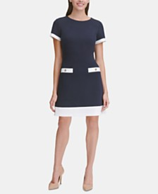 Tommy Hilfiger Contrast-Trim Piqué Dress