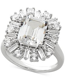 Cubic Zirconia Statement Ring in Sterling Silver
