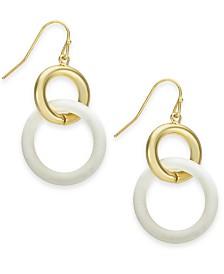 Alfani Gold-Tone Colorblok Multi-Ring Drop Earrings, Created for Macy's