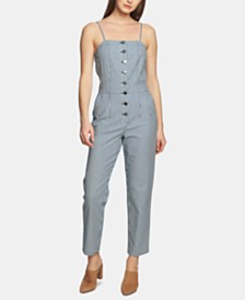1.STATE Railroad-Striped Jumpsuit