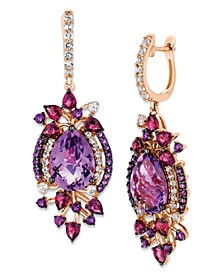 Crazy Collection® Multi-Stone Drop Earrings in 14k Strawberry Rose Gold (13-1/2 ct. t.w.)