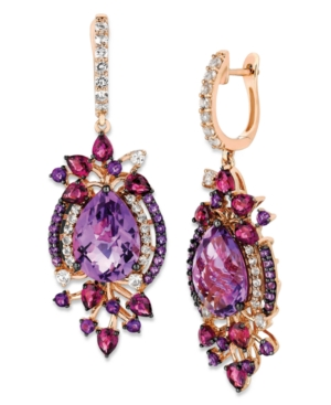 Le Vian Crazy Collection Multi-Stone Drop Earrings in 14k Strawberry Rose Gold (13-1/2 ct. t.w.)