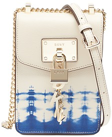DKNY Elissa Leather Tie-Dyed Crossbody, Created for Macy's