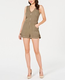 GUESS Zippered Cuffed Romper