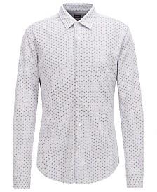 BOSS Men's Slim Fit Patterned Cotton Shirt