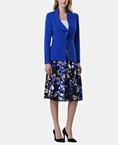 8fe4e426c1a Tahari ASL Ruffled Blazer   Printed Skirt. Quickview. 2 colors