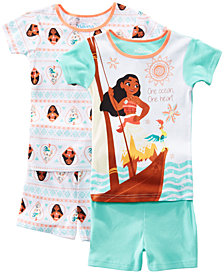 AME Little & Big Girls 2-Pack Moana Graphic Cotton Pajamas